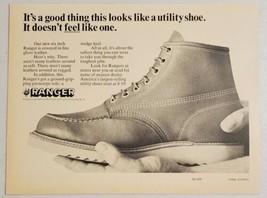 1965 Print Ad Ranger Utility Shoes, Boots Fine Glove Leather Endicott-Johnson NY - $10.87