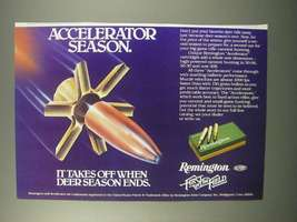 1981 Remington Accelerator Cartridges Ad - Season - $14.99