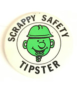 Illinois Central Railroad Scrappy Safety Tipster Pin Back button - $9.49