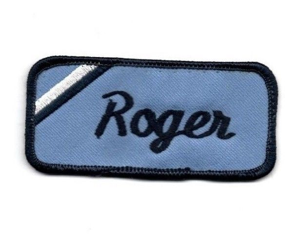 Vintage roger name patch mechanic shirt work uniform tag for Mechanic shirts custom name patch