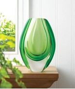 EMERALD GREEN Art Glass Vase - $29.68