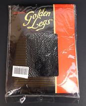 Vtg Golden Legs One Fits All Size Panty Hose Black Fishnet Pantyhose Sto... - $10.84