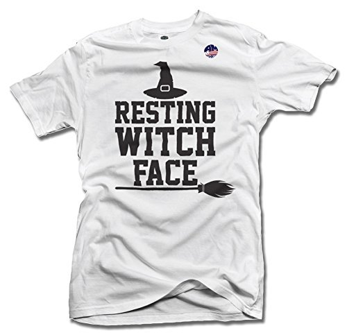 RESTING WITCH FACE 6X White Men's Tee (6.1oz)