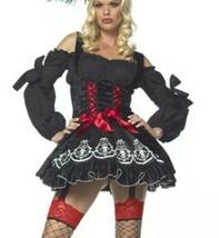 Leg Avenue Treasure Hunt Wench Sexy Pirate Captain Buccaneer Dress XS 83348 NEW - $22.57