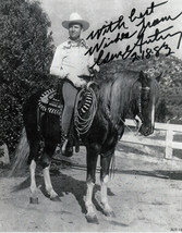 GENE AUTRY on Champion  AUTOGRAPHED  REPRINT   AUT-14 - $4.90