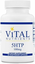 Vital Nutrients 5-HTP 100 mg 60 vcaps FAST SHIPPING - $34.30