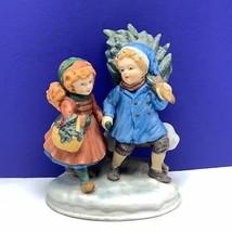 Avon Christmas memories figurine sharing spirit 1981 first edition 1st t... - $39.55