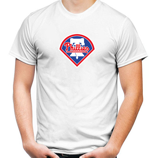 Primary image for Philadelphia Phillies Tshirt White Color Short Sleeve Size S-3XL