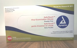 2 BOXES OF EXAM GLOVES, 100 PCS PER BOX, DYNAREX SZ LARGE, Free Shipping - $24.99