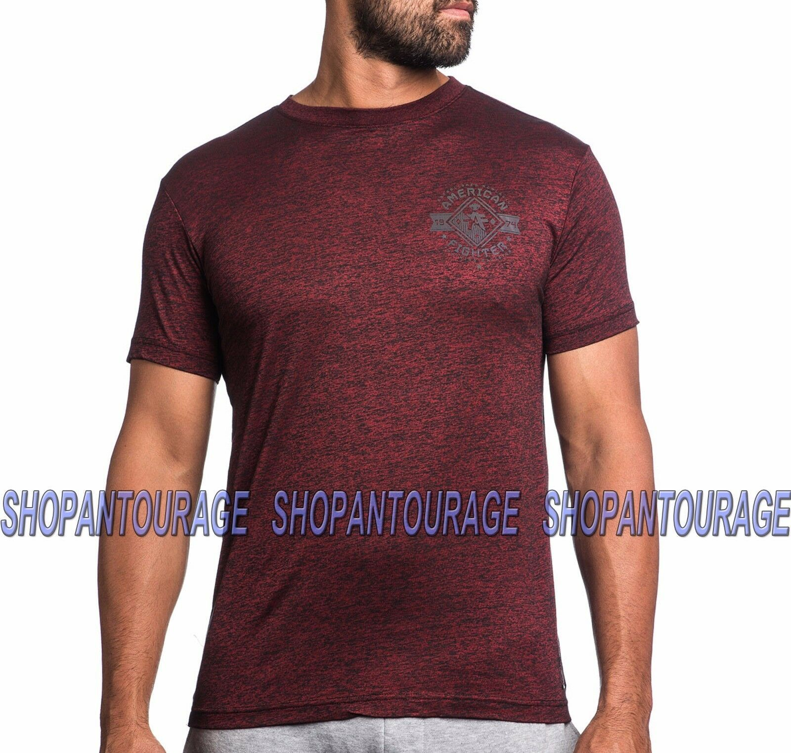Primary image for AMERICAN FIGHTER Massachusetts FM3782 Men`s New Rusted Red T-shirt By Affliction