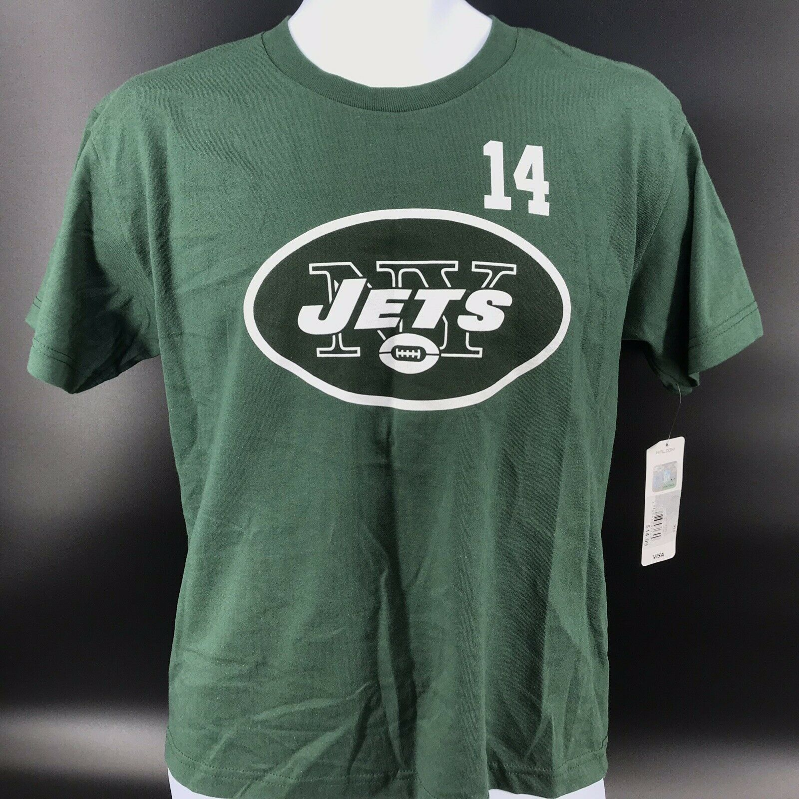 Primary image for NFL New York Jets #14 Sam Darnold Tee Shirt Size Youth Small 8 - NEW W/Tags -A4