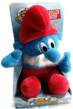 Papa Smurf Plush by Irwin  Plays smurf theme song in box 1996 Tummy Huggin' - $19.79