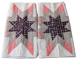 VHC Ashton & Willow Quilted Lemoyne Primitive Country Star Standard Pill... - £8.57 GBP