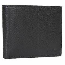 Calvin Klein Ck Men's Leather Bifold Id Wallet Key Chain Set Black 79080 image 4