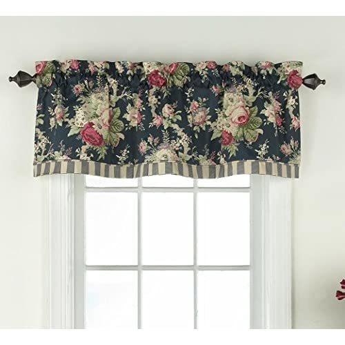 "Primary image for WAVERLY Sanctuary Rose 60"" x 18"" Short Valance Small Window Curtains Bathroom, L"