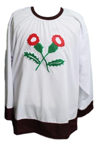 Kenora thistles retro hockey jersey white   1
