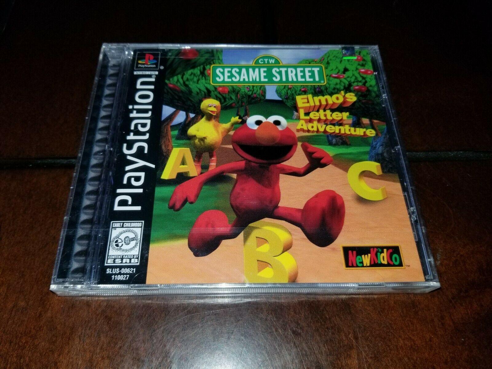 Sesame Street Elmo's Letter Adventure Black Label PS1 Brand New **Inv02544**