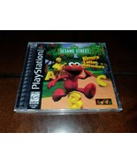 Sesame Street Elmo's Letter Adventure Black Label PS1 Brand New **Inv025... - $38.60
