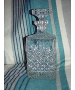FANTASTIC CRYSTAL CUT SQUARE WHISKEY WINE HEAVY DECANTER - $89.00
