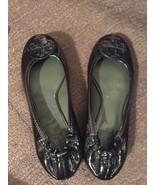 Tory Burch Womens Size 5.5 Reva Patent Leather Flat Ballet Big Logo Shoe... - $46.71