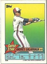 1989 Topps Minis Baseball-#36-Andres Galarraga-Expos - $4.04