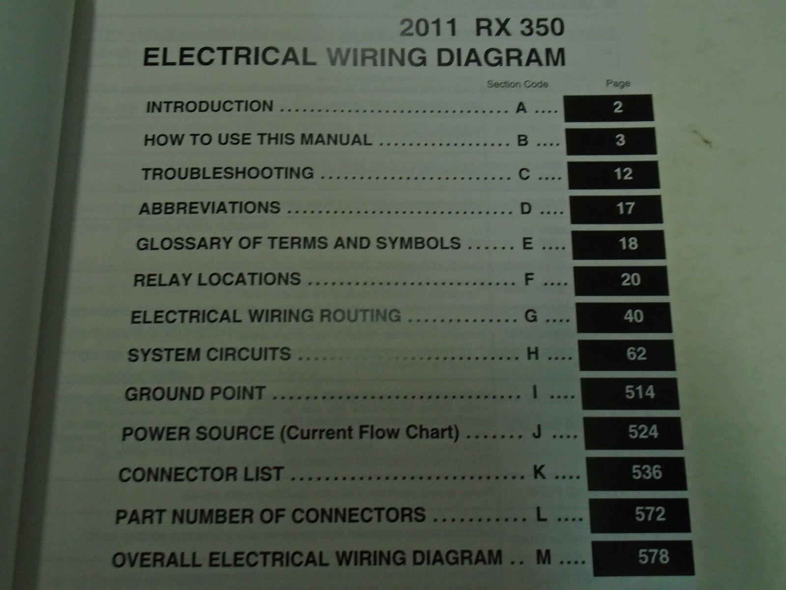 2011 Lexus RX350 Rx 350 Elektrisch Wiring Service Shop Reparatur Manuell Ewd image 2