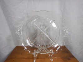 Etched Clear Glass Serving Tray Cross Section S... - $12.99
