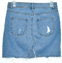 Divided by H&M Women's Ripped Distressed Blue Jean Denim Mini Skirt Size 2 image 2