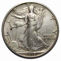 1918S Walking Liberty 50¢ Silver Half Dollar Lot # A 2233