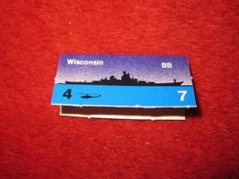 1988 The Hunt for Red October Board Game Piece: Wisconsin Blue Ship Tab- NATO  - $1.00