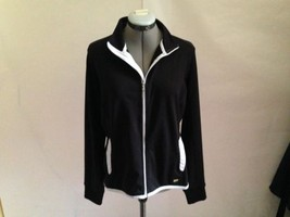 Izod XFG Black Golf Breathable Athletic Jacket with Gray Trim Outerwear ... - $20.22