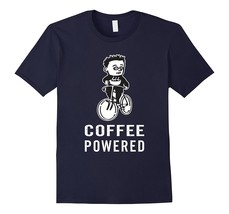 Coffee Powered Road Biking, Cycling T-shirt Men - $17.95+