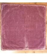 Pottery Barn Throw Pillow Cover VELVET MERLOT PINK FRINGE 22x22 NWOT   #4 - $24.95