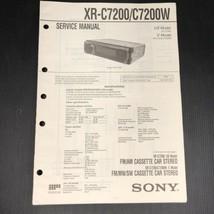 Sony XR-C7200/C7200W Service Manual - $18.99