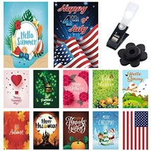 Seasonal Garden Flags 12 Pack - Bright and Shine - 12 Pack Set of 12x18 ... - $18.61