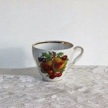 OLD NUREMBERG VINTAGE COFFEE CUP TEACUP PEAR GOOSEBERRY FRUIT BAVARIA GE... - $15.00