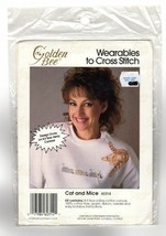 CAT AND MICE Golden Bee Wearables to Cross Stitch Kit #60314 NEW - $6.47