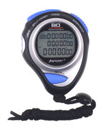 Digital Pro 80 Laps Memory Handheld Stopwatch Three Row Sport Counter Timer - $23.29