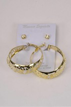 Fashion 2 pairs Filigree Hoop and clear Rhinestone studs Brand New - $5.00