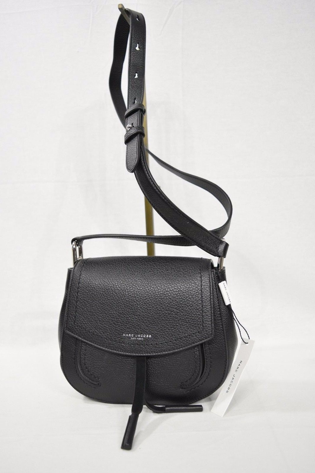 Marc Jacobs M0009544 Maverick Mini Saddle Shoulder Crossbody Leather Bag  Black 01208fd48a44e