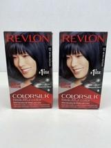 Revlon Colorsilk Permanent 12 Natural Blue Black Hair Color Dye Lot of 2 Boxes - $12.86