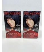 Revlon Colorsilk Permanent 12 Natural Blue Black Hair Color Dye Lot of 2... - $12.86