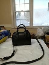 NWT Michael Kors Giftable Bedford micro Leather Crossbody Bag MK black $298 - $89.09