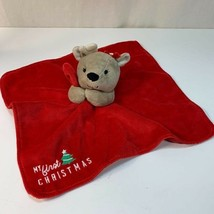 Carter's Child of Mine My First Christmas Reindeer Plush  Brown Red Ratt... - $16.00