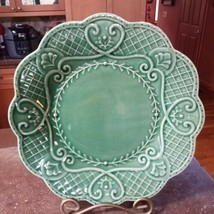 Hedgewood Majolica Dinner Plate Suzanne Nicoll Portugal Hedge Wood Scall... - $20.00