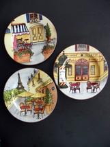 "Set of 3 Sakura Table Paris Bistro 8"" Salad / Dessert Plates by Gracey Knight - $12.13"