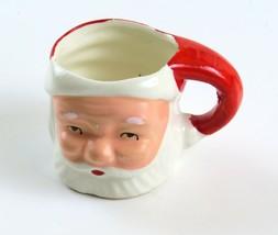 Santa Ceramic Mini Mug/Pitcher Toothpick Holder, T G & Y Stores Co., Vin... - $11.87