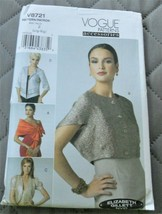 Pattern Vogue Accessories Wrap Shrug Jacket V8721 Uncut Factory Folded - $9.79
