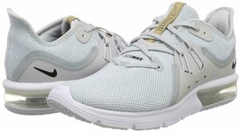 MEN'S NIKE AIR MAX SEQUENT 3 SHOES platinum black white 921694 008 MSRP ... - $59.98