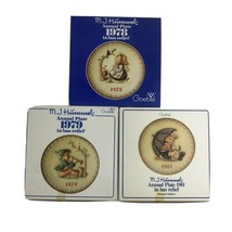 Vintage Hummel Goebel 1978 1979 1981 Annual In Bas Relief Plates Lot Wit... - $27.88